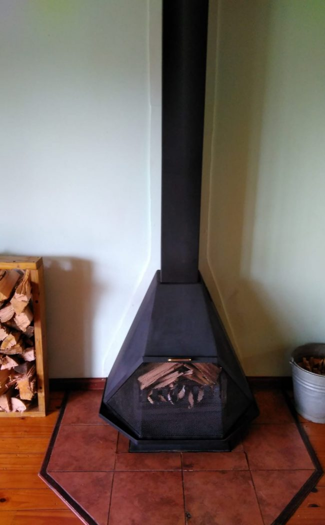 Fireplace in 3 Bedroom Lounge
