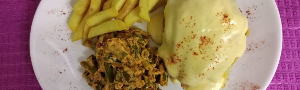 Chicken Breast, Hungarian Beans & Chips